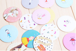 Wholesale Small Round Cosmetic Mirrors - Korea cartoon loveliness Portable small mirror cosmetic mirror Button mirror donation girls boy gift christmas gift free shipping
