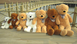 Wholesale Cute Teddy Bear Sale - Wholesale-Hot Sale 100CM Cotton Giant 100cm Cute Plush Teddy Bear Huge Soft TOYS 5 Colors Valentine's Christmas Gift