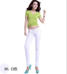 Wholesale Womens Jeans Drop Shipping - Wholesale-XS-XXXL plus-size 22 Color womens spring-summer denim skinny jeans women overalls elastic pencil pants free Drop shipping