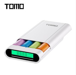 Wholesale Portable Charger Cases - TOMO M4 Smart Power Charger C4 X 18650 Li-ion Battery 5V 2A Powerbank Case Portable DIY Power Bank Box Charger For 18650 Battery