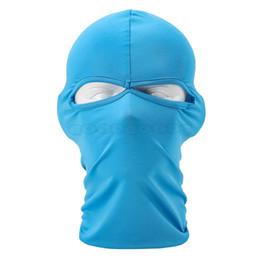 Wholesale Balaclava Hole Black - Wholesale-New 2015 New Balaclava CS SWAT Style Mask Winter Wind Cap 2 Hole Full Face Neck Mask Windproof Ski Skateboard Hat Headgear