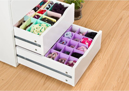 Wholesale Plastic Clothing Cabinet - New Freely combination DIY barrier storage box cabinet clap board drawer divide home storage socks Partition plate