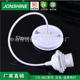 Wholesale Electrical E27 - Diy ceiling plate line vintage classic e27 lamp pendant light lamp base  led lighting lamp holder with 1meter electrical wire order<$18no tr