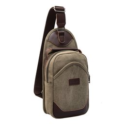 Wholesale Cross Body Backpack For Men - Mens Canvas Carry-On Chest Male Bag Sling Pack Unbalanced Backpack Small Cross body Travel One Shoulder Bag for Student