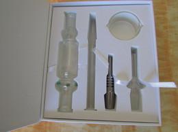 caja de dabber Rebajas Nuevo kit de colector de néctar con titanio y plato de dabber de uñas de cuarzo. Conjunto de caja de colector de néctar Smooth Hit de 14 mm.