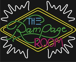 """Wholesale Office Room Signs - The RamPage Room Neon Sign Customized Handmade Real Glass Tube Display Neon Signs With Black Plastic Back Board 24""""X20"""""""