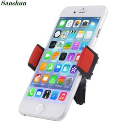 Wholesale Airframe Mount - Wholesale-Sanshun For Smartphones Airframe Portable In Car Dash Air Vent Holder Mount for Iphone 6 Plus