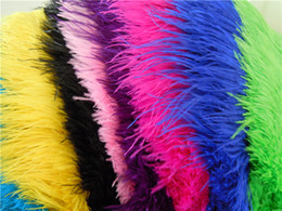 Wholesale Turquoise Black Wedding Decorations - wholesale 100pcs lot 12-14inch Ostrich Feather Plume White,Royal bule,Black,Turquoise,Pink,Yellow Purple Red Ivory Gold Orange