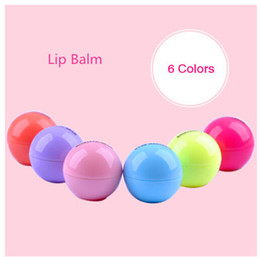 Wholesale Wholesale Organic Lip Balm - New Brand Makeup Natural Plant Sphere Lip Pomade Fruit Lip Balm Lipstick Organic Lip Ball Makeup Lipstick Gloss Free Shipping