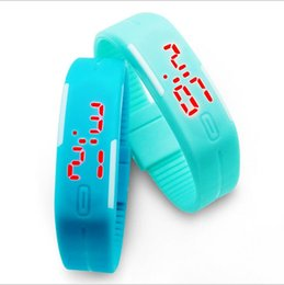 Wholesale Jelly Touch Wrist Watch - 2016 Fashion rectangle Bracelet boys girls Touch LED Watch Sport digital men women unisex jelly candy rubber silicone wrist Watch wristwatch