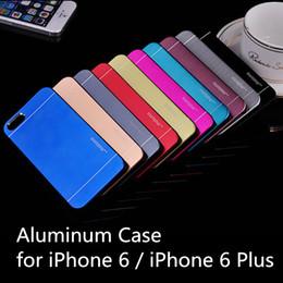Wholesale Iphone Brush Aluminium - For Sansung S8 Motomo Brushed Aluminium Metal + PC Back Case Cover Luxury Ultra thin Skin Protector Shell for iphone 7 plus Samsung S7