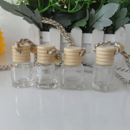 Wholesale Car Ornaments Perfume - 100pcs Steam car ornaments hanging car perfume bottles , empty bottle pendant car accessories 4ML