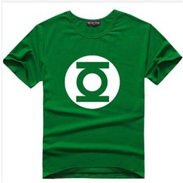 Wholesale Yellow Lantern Cosplay - Wholesale-The Big Bang Theory T-shirt Sheldon Cooper super hero green lantern the flash cosplay t shirts men women geek tee TBBT tshirt