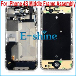 Wholesale Iphone 4s Middle Frame Assembly - 4S Middle Frame Housing Faceplate Bezel Chassis Full Assembly For iPhone4s iPhone 4s 4GS Free Shipping