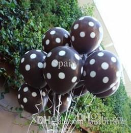 Wholesale Dot Ballons - black brown polkadots ballons latex wedding decoration dot balloon for party,birthday,carnival freeshipping