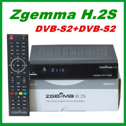 Wholesale Wholesale Satellite - 2pcs Original ZGEMMA H.2S Dual Core Twin Tuner DVB-S2 + DVB-S2 IPTV Satellite Receiver support TF Card free shipping