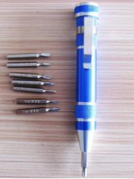 Wholesale E Cigarette Repair - 30 pcs,Pen Style 8 Head Multifunctional Screwdriver Knife Set 8 in 1 Pen Shaped Screw drivers repair Tool Set Kit,e cigarette RDA MOD DIY