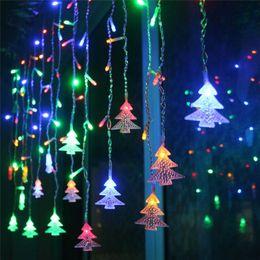 2019 weihnachten hausgarten festival licht Weihnachtsbaum Vorhang Eiszapfen String Fairy Light Hochzeit Garten Home Schlafzimmer Festival Holiday Decor günstig weihnachten hausgarten festival licht