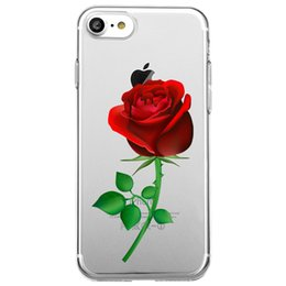 Wholesale Clear Flower Iphone Case - Shaka Laka bright roses Phone Clear shell health flowers Case For iPhone 6 6S 5.0in 6plus  7 7plus 8 8s plus X Soft TPU silicone back Cover