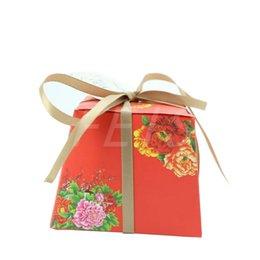 2019 коробка богатства FEIS Оптовая трапеция бумага свадебные сувениры коробка конфет пион богатство ретро печать коробки конфет свадьба душа ребенка брак подарок дешево коробка богатства