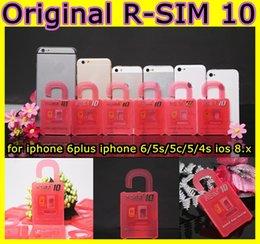Wholesale Ios6 Wcdma - Newest Unlock Card R-SIM 10 RSIM 10 R SIM 10 directly used for iphone 6 6plus 5s 5c 5 iOS6. X-8.X WCDMA GSM CDMA