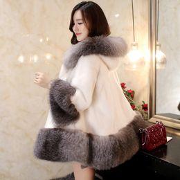 Wholesale Long Fur Coat Model - 2015 New mink fur coat and long sections women plush fur hooded mink coat the entire fashion models S--XL