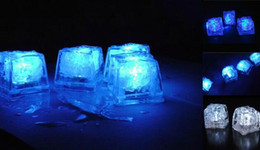 Wholesale Multi Flashing Ice Cubes Lights - Fast shipping Christmas Decoration Flash Ice Cube Water Actived Led Light Put Into Water Drink Flash Automatically for Party Wedding Bars