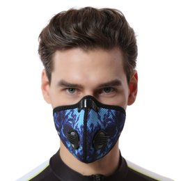 Wholesale Warm Activated Carbon Mask - Wholesale- Cycling Face Masks Mesh Breathable Quality Printing Masks Activated Carbon Dustproof Warm Comfortable Stomatal Riding Mask Macka