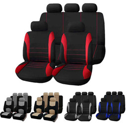 2019 gestrickte autositzbezüge Autositzbezüge Universal Auto Sitzbezug 9 Set Full Seat Covers für Crossover Limousinen Autoinnenausstattung Full Cover Set für Car Care