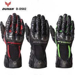Wholesale Duhan Moto - 2015 New DUHAN D-DS02 motorcycle gloves motorbike gloves men riding a moto protective full finger gloves made of leather carbon fiber