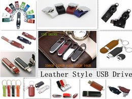 Wholesale Usb Stick 128g - 256GB 128G 64GB High Speed USB 2.0 (Leather U disk) USB FLASH DRIVE USB 2.0 STICK MEMORY Shenzhen retail package for 12 months warranty