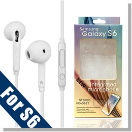 Wholesale Headphones For Galaxy - Samsung 3.5mm PREMIUM SOUND HIGH QUALITY Stereo Earbud Headphones for Galaxy S6 S6 Edge EO-EG920LW - Comes with Retail Package(Color White)