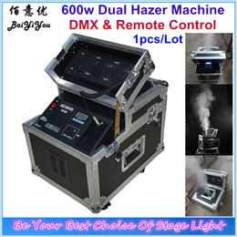 Wholesale Smoke Machine Dmx - Wholesale- 600W Technology Haze Fog Machine 600w Dual Hazer DMX Control Fog Machine Smoke Effect Hazer For Stage Event Wedding Flight Case