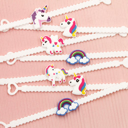 Wholesale Toy Tops For Sale - Top Sale Pawliss Emoji Bracelets Unicorn Wristband Unicorn Bracelet Birthday Party Favors Supplies for Kids Girls Emoticon Toys Prizes Gift