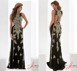 Wholesale Sexy Jasz Dresses - Gorgeous Jasz Couture Evening Dresses Chiffon Beaded Sheath Formal Occasion Prom Gowns Plus Size 2016 Spring Free Shipping