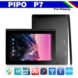 Wholesale Ips P7 - Wholesale-New Arrival Original PiPo P7 Android Tablet PC RK3288 Quad Core 1.8GHz Mail T764 9.4 inch IPS 1280x800 2GB RAM Android 4.4 OTG