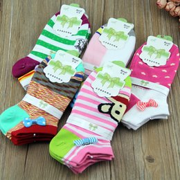 Wholesale Cute Socks Price - Wholesale-20pcs=10pairs lot Cheap Price Cute Animal Women Cartoon 100% Cotton Socks Slippers Boat Slippers for Women