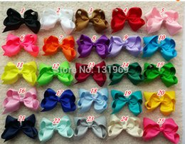 Wholesale Grosgrain Ribbon Hairbows - new arrival 25pcs lot 5 Inches Big Grosgrain Ribbon Hairbows,Baby Girls' Hair Accessories With Clip, DIY Hair Bows