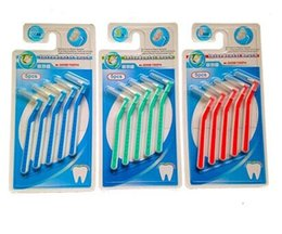 Wholesale Tooth Floss Free Shipping - 0.7 0.8 1.0mm  Soft Push-Pull cleaning Interdental brush dental floss for Teeth Free Shipping 108