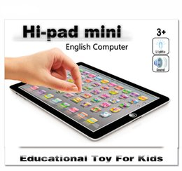 Wholesale Computers Wholesalers - newest Learning Toy game Tablet pad chinese English Computer Laptop Y Pad Kids Game Music Education Christmas Electronic Notebook