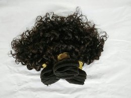 """Wholesale Cheap Packs Hair - Clearance cheap 8"""" kinky curly 50g pack indian human hair weave natural color indian hair extensions 4pcs lot for black women"""