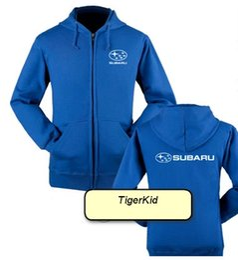 Wholesale Gray Sweaters For Men - print logo Subaru car logo jacket SUBARU 4S work clothing store for men and women racing repair service zipper sweater