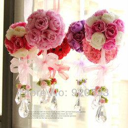 Wholesale Hydrangea Rose Bouquet Wedding - New 14 color Artificial Flowers real look Hydrangea flowers bouquet mix DIY Home decorations for wedding ball