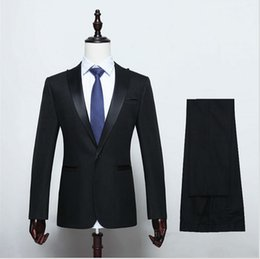 Wholesale Plus Size Office Jackets - (Jacket+Pant) Mens Suit Set 2016 Wedding Suit Formal Wear Office Suit Mens Textured Blazer Groom Tuxedos Brand Single Breasted