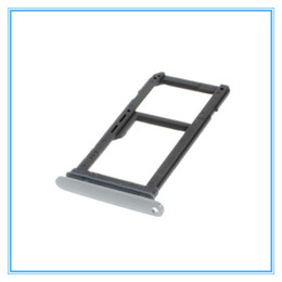 Wholesale Sd Galaxy - Replacement New Single Dual Sim Micro SD Memory Card Tray Holder For Samsung Galaxy S7 G930 G930F S7 edge G935 G935F Gold Silver Gray
