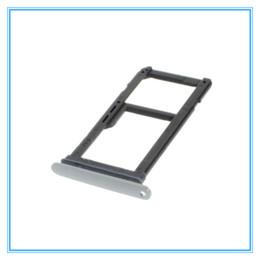 Wholesale dual sim card holder - Replacement New Single Dual Sim Micro SD Memory Card Tray Holder For Samsung Galaxy S7 G930 G930F S7 edge G935 G935F Gold Silver Gray