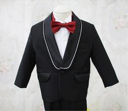 Wholesale Little Boys Wedding Suits - Hot Sale Fashion 2015 Boy's Formal Occasion Suit Little Men Wedding Tuxedos Boy Party Birthday Suits (Jacket+Pants)q17