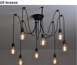 Wholesale Vintage Fluorescent Ceiling - Retro mordern Nordic Edison bulb Antique vintage adjustable E27 DIY loft of art chandelier ceiling light fixture