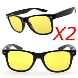 Wholesale Wholesale Lense Glasses - Wholesale-2pcs lot,Sport Glasses Men Driving Sunglasses Yellow Lense Night Vision Driving Glasses Reduce Glare Goggles oculos de sol