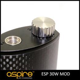 Wholesale Electronic Wattage - 100% Genuine Aspire ESP 30W MOD 1900mah Variable Wattage Suit For 0.3OHM SUB Atomizer Electronic Cigarette